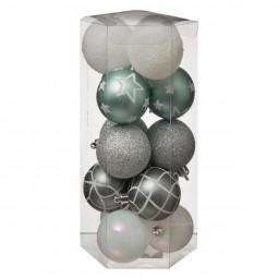 Décoration de sapin Lot de 15 Boules de Noël D 5 cm Sarah B.