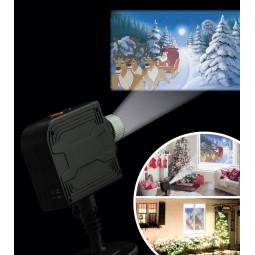 Kit complet : Projecteur intérieur à LED avec 12 films et  une toile blanche