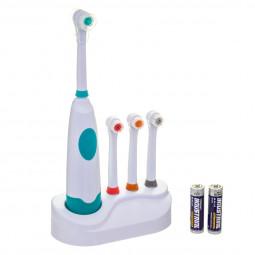 Brosse à dents électrique + 4 têtes + 2 piles