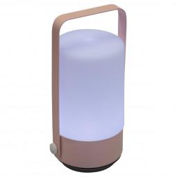 Lampe lampion push LED rose H19