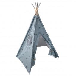 Tipi 5 pieds étoiles grises et argentées H160 cm