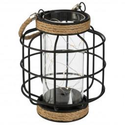 Lampe Lanterne en métal filaire avec microled H17,5