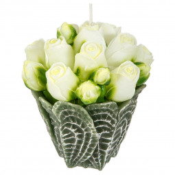 Bougie bouquet de roses 245G