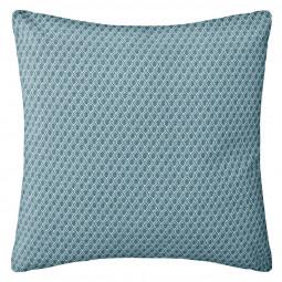 Coussin motif otto bleu 38 x 38 cm
