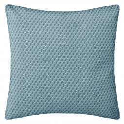 Coussin motif otto bleu 38x38