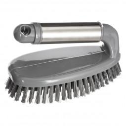 Brosse vaisselle à poignée inox silver