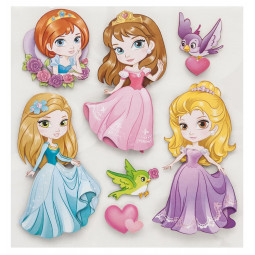 Sticker Kids 3D princess 30x30