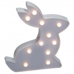 Déco lumineuse Lapin 11 LED