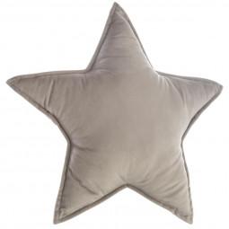 Coussin étoile gris 49x49 cm