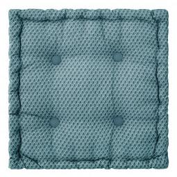 Coussin de sol otto bleu 40 x 40 cm
