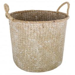 Panier seagrass avec anses été indien