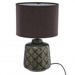 Lampe pied en céramique ilou H 35 cm