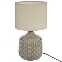 Lampe pied en céramique ilou H 36.5 cm