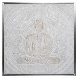 Peinture sur toile avec cadre bouddha 78 x 78 cm