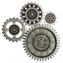 Pendule originale multi-mécanisme en pvc et verre  57 x 58 cm
