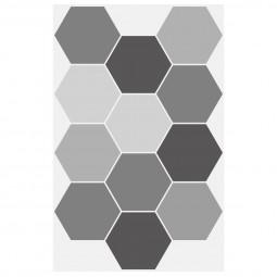 1 planche sticker déco effet relief geometrie 32 x 50 cm