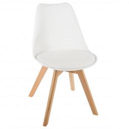 Chaise scandinave blanche baya