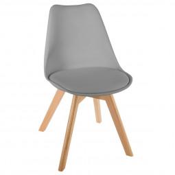 Chaise scandinave grise baya