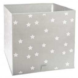 Bac de rangement pliable gris étoiles