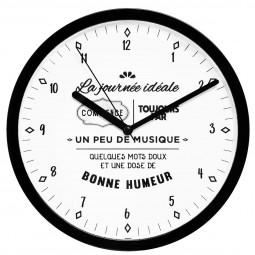 Pendule murale en pvc  avec citation  D 22.4 cm