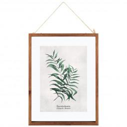 """Cadre en verre """"feuilles""""  38 x 48 cm"""