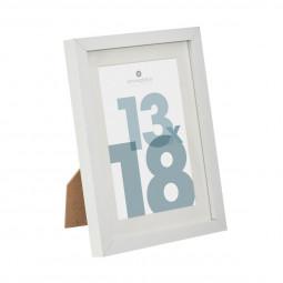 Cadre photo blanc 13 x 18 cm manu