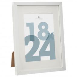 Cadre photo blanc 18 x 24 cm manu