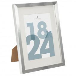 Cadre photo argenté 18 x 24 cm manu