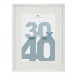 Cadre photo blanc 30 x 40 cm manu