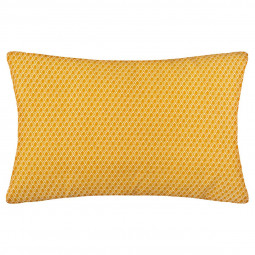 Coussin motif otto ocre 30 x 50 cm