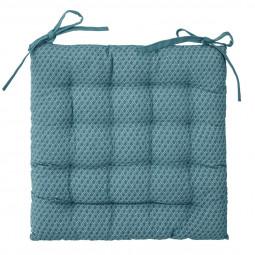 Galette de chaise otto bleu 38x38 cm
