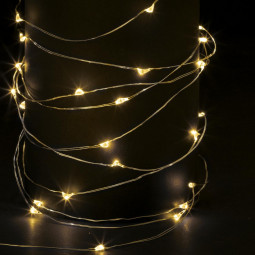 Guirlande lumineuse d'intérieur Copper 100 LED Blanc chaud sur 10 Mètres