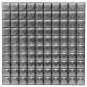 Set de 6 planches sticker déco effet relief 100 carreaux argent 30 x 30 cm