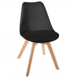 Chaise scandinave noire baya