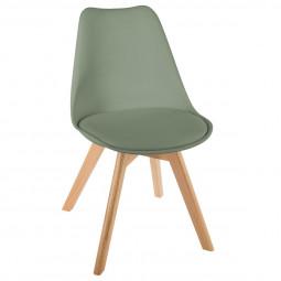 Chaise scandinave kaki baya