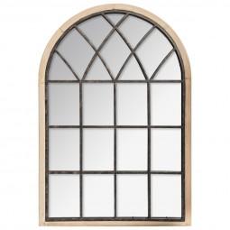 Miroir métal et bois naturel joe 67 x 97 cm