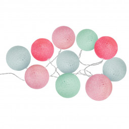 Guirlande 10 boules LED D6 cm bohemian dream