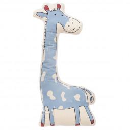 Coussin forme girafe bleu 66 x 30  cm
