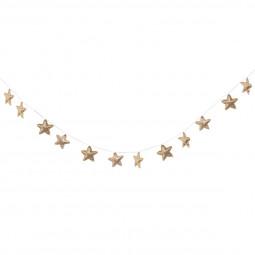 Guirlande 12 étoiles dorées 230 cm