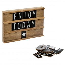 Tableau en bois avec lettres collect moments