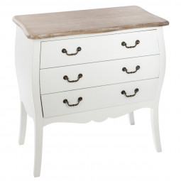 Commode 3 tiroirs Chrysa blanche