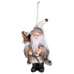 Décoration Sujet de Noël Père Noël traditionnel H 13.5 cm A l'orée des bois