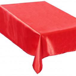 Nappe Satin Rouge 140 x 360 cm La maison des couleurs
