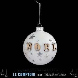 Décoration de sapin Boule de Noël en verre D 8 cm Un Noël kinfolk