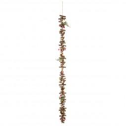 Guirlande de Noël en Bois Branches et Rondins L 100 cm  A l'orée des bois