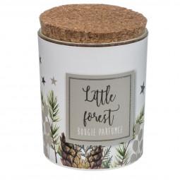 Bougie Parfumée Photophore en Verre décoré avec couvercle D 6.2 cm A l'orée des bois