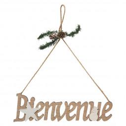 Décoration de Noël à suspendre BIENVENUE lettres en bois 30 x 9 cm  A l'orée des bois