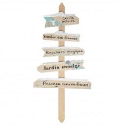 Décoration de Noël Pancarte en bois enneigé H 110 cm Un Noël kinfolk