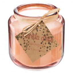 Bougie parfumée avec couvercle en bois 240g