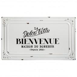 Plaque décorative en métal rétro la dolce vita 39 x 23 cm